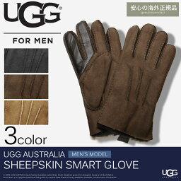 アグ オーストラリア 手袋(メンズ) 送料無料 アグ オーストラリア 海外 正規品 手袋 シープスキン スマート グローブ 全3色UGG AUSTRALIA SHEEPSKIN SMART GLOVE 1090072メンズ シープスキン 防寒 デザイン スマートフォン対応 プレゼント