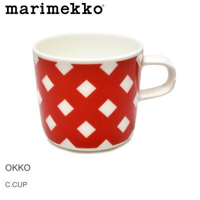 【クーポン配布中】MARIMEKKO マリメッコ マグカップ レッド オッコ コーヒーカップ ラテマグ OKKO COFFEE CUP 68876 130 皿 食器 誕生日プレゼント 結婚祝い ギフト おしゃれ 【ラッピング対象外】 母の日