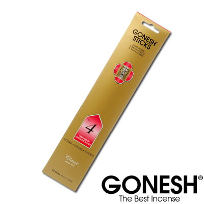 GONESH ガーネッシュ お香 スティックインセンスNo.4【ガーネッシュ(GONESH)】