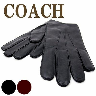 コーチ グローブ メンズ COACH 手袋 レザー カシミヤ混 85850 ブランド 人気