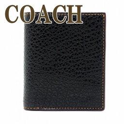 コーチ 二つ折り財布 メンズ コーチ 財布 メンズ 二つ折り財布 COACH レザー ブラック 11989BLK ブランド 人気