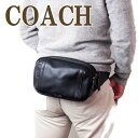ショルダーバッグ コーチ COACH バッグ メンズ ショルダーバッグ 斜めがけ ウエストバッグ レザー 37594QBBK ブランド 人気