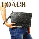 クラッチバッグ コーチ COACH バッグ セカンドバッグ クラッチバッグ ポーチ セカンドポーチ シグネチャー 75914QBBK ブランド 人気