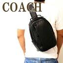 コーチ メッセンジャーバッグ メンズ コーチ COACH バッグ メンズ ショルダーバッグ 斜め掛け ワンショルダー Cロゴ ブラック 黒 レザー 89908QBBK ブランド 人気