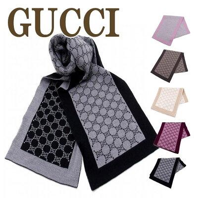 グッチ GUCCI マフラー メンズ ストール レディース GG ウール 421068-3G206 ブランド 人気