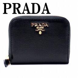 プラダ 【イタリア買付】プラダ 財布 PRADA 1MM268-2EZZ-F0002 NERO コインケース 財布 小銭入れ 黒 ラウンドファスナー