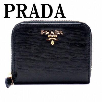 【イタリア買付】プラダ 財布 PRADA 1MM268-2EZZ-F0002 NERO コインケース 財布 小銭入れ 黒 ラウンドファスナー