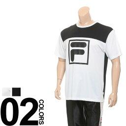 フィラ 大きいサイズ メンズ FILA (フィラ) ビッグロゴプリント ストレッチ 半袖 Tシャツ 吸汗速乾 再帰反射 春 夏 スポーツウェア 運動着 トレーニングウェア 機能性 楽天カード分割 05P03Dec16