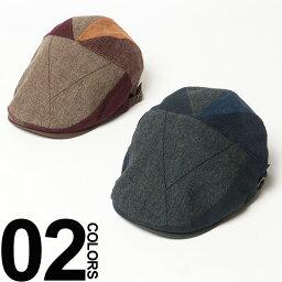 ブランドハンチング(メンズ) 大きいサイズ メンズ grace (グレース) 配色切り替え サイズアジャスター付き ハンチング BIG SIZE カジュアル 小物 帽子 ハット 切り替え 秋 冬 異素材 楽天カード分割 05P03Dec16