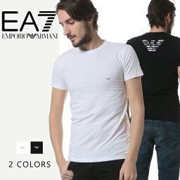 エンポリオ・アルマーニ エンポリオアルマーニ EMPORIO ARMANI バックロゴプリント クルーネック 半袖 Tシャツブランド メンズ 男性 カジュアル トップス ティーシャツ アンダーウェア EA1110357P745 【zenonline】