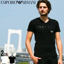 エンポリオ・アルマーニ アルマーニ tシャツ エンポリオアルマーニ EMPORIO ARMANI ロゴ Vネック 半袖 Tシャツ Tシャツ ブランド メンズ ストレッチ EA110810CC716 SALE_1_a