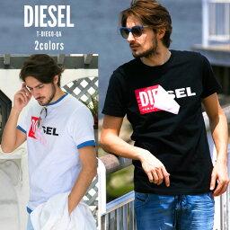 ディーゼル ディーゼル Tシャツ メンズ 半袖 DIESEL ロゴ プリント ブランド メンズ DSS02X091B