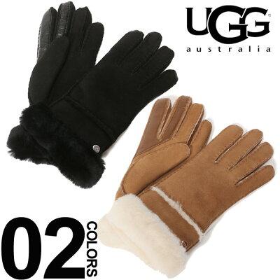 アグ オーストラリア UGG Australia シープスキン リアルファー グローブ ブランド レディース 手袋 レザー スマホ操作 UGGL17371