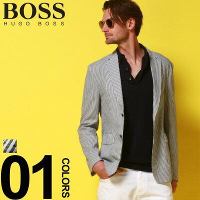 ヒューゴ ボス HUGO BOSS ジャケット シングル ストライプ シアサッカー 2ツ釦 2B Navil ブランド メンズ テーラード HBNAVIL10215852
