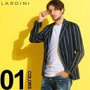 ラルディーニ ラルディーニ LARDINI ジャケット リネン 麻ジャケット ストライプ シングル 段返り3ツ釦 3B ブランド メンズ テーラード LD528AVRP52592