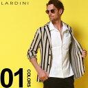 ラルディーニ ラルディーニ LARDINI ニットジャケット コットンニット ストライプ ブートニエール シングル 2ツ釦 2B ジャケット ブランド メンズ ニット LDLJM5652011