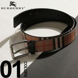 バーバリー ベルト(メンズ) バーバリー BURBERRY ベルト レザー ヴィンテージチェック ブランド メンズ プリント ロゴ ピンバックル BB40748241S9