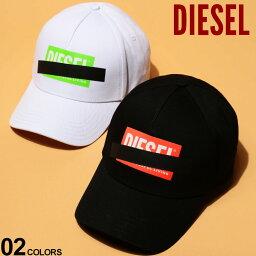 ディーゼル ディーゼル メンズ キャップ DIESEL コットン ロゴ プリント スナップバック ブランド 帽子 ベースボールキャップ DSSJ6PJAPG