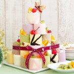 ロールケーキタワー 【バースデーケーキ ギフト】新杵堂 積み上げて楽しい♪ ロールケーキタワー9個入り(キャンドル付き)【ギフト プレゼント ロールケーキ ケーキ バースデー 誕生日 クリスマス スイーツ 人気】